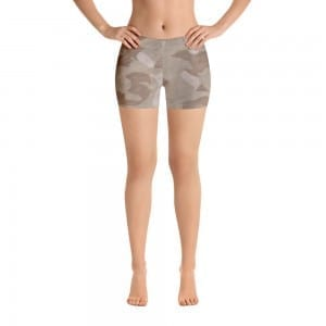 Women's Desert Brown Camo Print Shorts