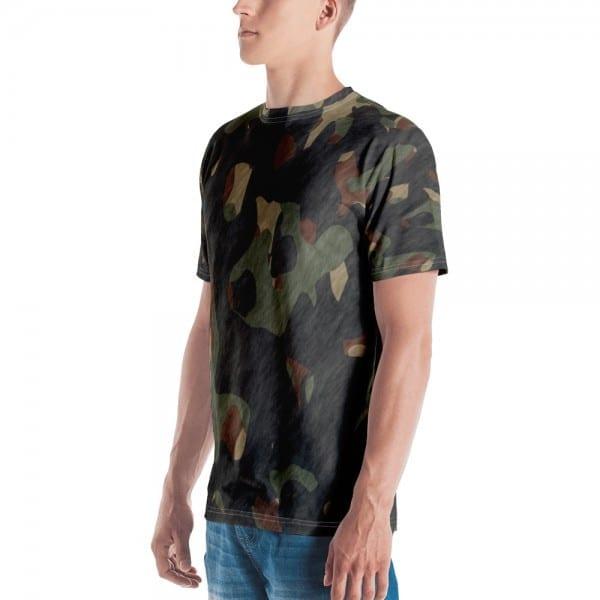 Mens Dark Camo Green Crewneck T-Shirt