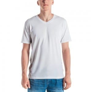 Men's White V-Neck T-Shirt