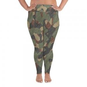Women's Green Camo Plus-size Leggings