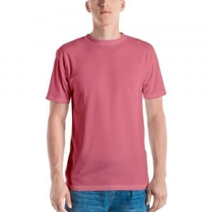 Mens Pink Crewneck T-Shirt