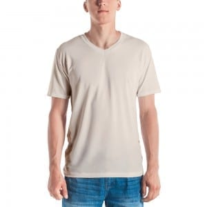 Men's Skintone V-Neck T-Shirt - FFF1E2