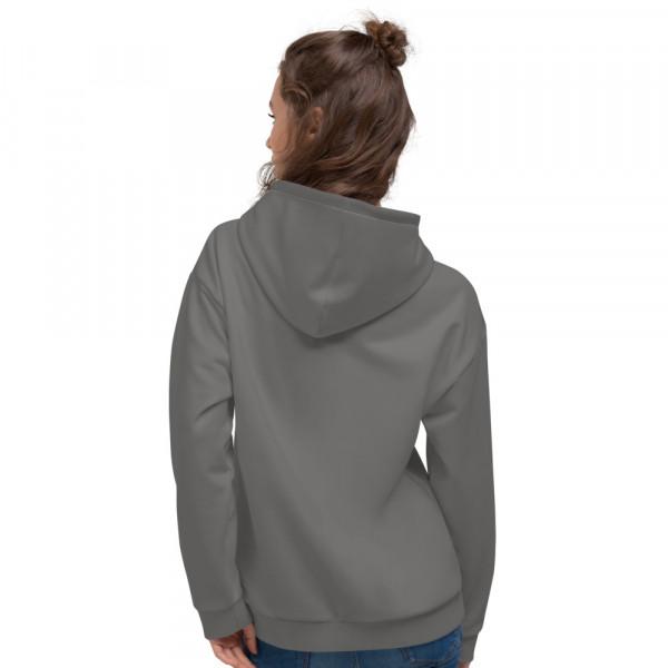 Charcoal Grey Unisex Hoodie - Charcoal and Grey TAV Shield Flag