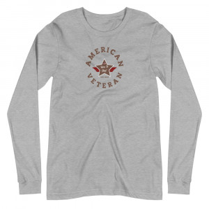 Circular Camo Brown and Grey Here To Stay! Shield Unisex Long Sleeve T-shirt
