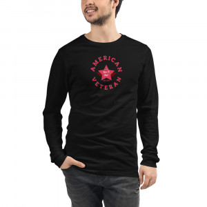 Circular Dark Pink Here To Stay! Shield Unisex Long Sleeve T-shirt