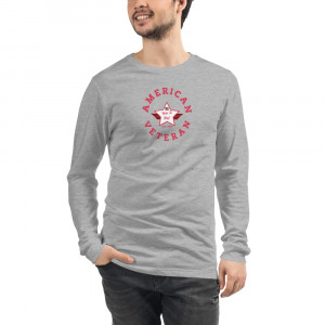 Circular Dark Pink and White Here To Stay! Shield Unisex Long Sleeve T-shirt