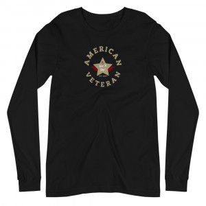 Circular Sand Brown Here To Stay! Shield Unisex Long Sleeve T-shirt