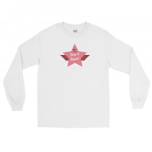 Men's Long Sleeve Ultra Cotton T-Shirt with Pink Born & Raised! Shield