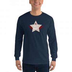 Men's Long Sleeve Ultra Cotton T-Shirt with Desert Brown Lite Born & Raised! Shield