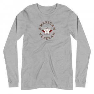 Circular Camo Brown and White Here To Stay! Shield Unisex Long Sleeve T-shirt