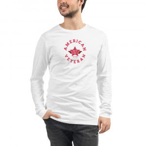 Circular Dark Pink and Grey Here To Stay! Shield Unisex Long Sleeve T-shirt