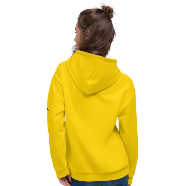 Pan-Africa Yellow Unisex Hoodie - Yellow BAV 1619 Shield w Wreath Flag & Ribbon