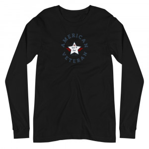Circular Navy Blue and White Here To Stay! Shield Unisex Long Sleeve T-shirt
