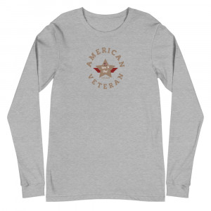 Circular Desert Brown Here To Stay! Shield Unisex Long Sleeve T-shirt