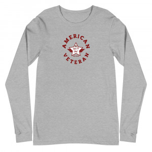 Circular Red and White Here To Stay! Shield Unisex Long Sleeve T-shirt