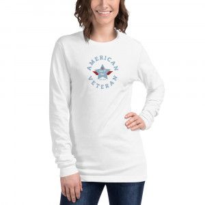 Circular Powder Blue Here To Stay! Shield Unisex Long Sleeve T-shirt