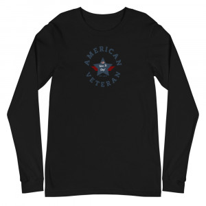 Circular Navy Blue Here To Stay! Shield Unisex Long Sleeve T-shirt