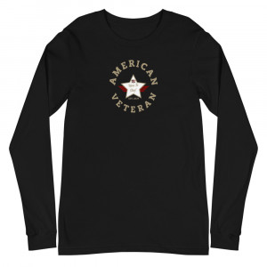 Circular Sand Brown and White Here To Stay! Shield Unisex Long Sleeve T-shirt