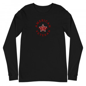 Circular Red and Grey Here To Stay! Shield Unisex Long Sleeve T-shirt