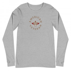 Circular Desert Brown and Grey Here To Stay! Shield Unisex Long Sleeve T-shirt