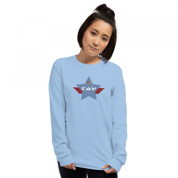 Men's Long Sleeve Ultra Cotton T-shirt with Blue TAV Shield