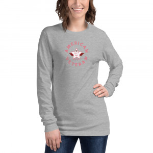 Circular Pink and White Here To Stay! Shield Unisex Long Sleeve T-shirt