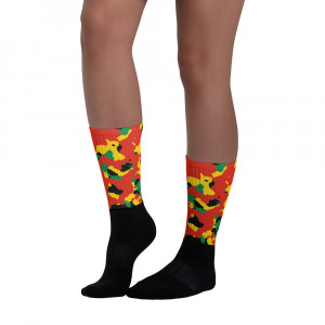 Pan-Africa Red Camo Blackfoot Designer Socks