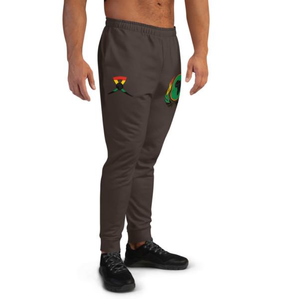 Men's 362923 Skintone Joggers - BAV 1619 Green Pan-African Homeland Shield w Wreath & Ribbon