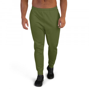 Mens Army Green Joggers