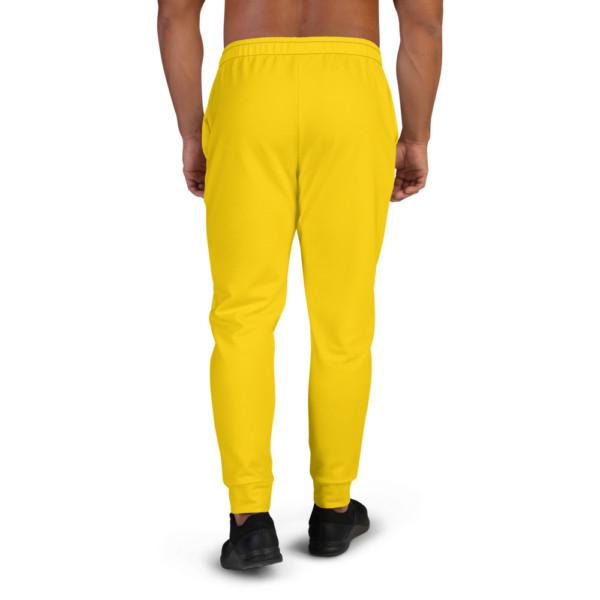Men's Pan-Africa Yellow Joggers - BAV 1619 Yellow Homeland Shield w Wreath & Ribbon