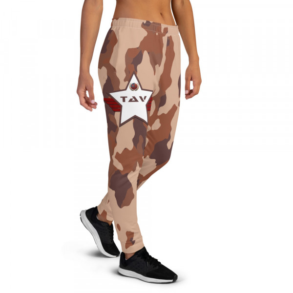 Women's All-Over Mild Skintone Camo Joggers - 5C3836 & White TAV Shield