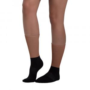 854B37 Skintone Blackfoot Designer Socks