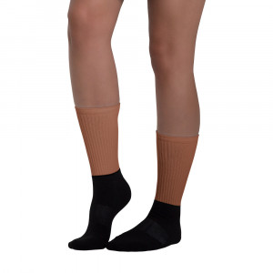 924C32 Skintone Blackfoot Designer Socks
