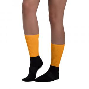 Pride Orange Blackfoot Designere Socks