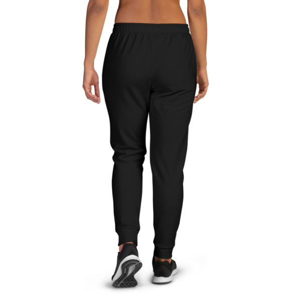 Women's Pan-Africa Black Joggers - Black & White BAV 1619 Shield
