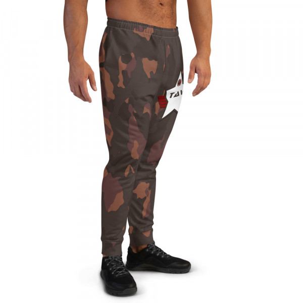 Men's All-Over Dark Skintone Camo Joggers - 362923 & White TAV Shield