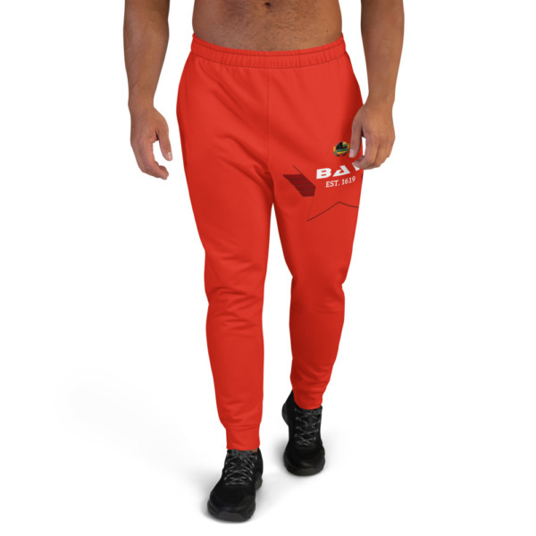 Men's Pan-Africa Red Joggers - Red BAV 1619 Shield