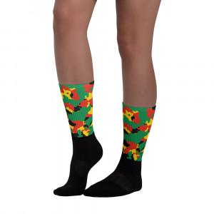 Pan-Africa Green Camo Blackfoot Designer Socks