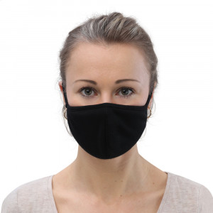 Small Black Washable Face Mask (3-pack)