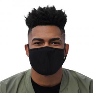 Medium Black Washable Face Mask (3-pack)