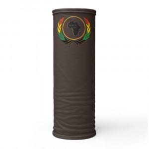 362923 Skintone Print Neck Gaiter w Pan African Wreath & BAV Nation Flag