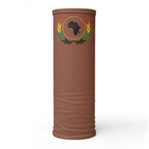854B37 Skintone Print Neck Gaiter w Pan African Wreath & BAV Nation Flag