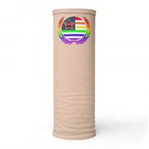 E7C5AC Skintone Print Neck Gaiter w Pride Wreath & LAV Flag