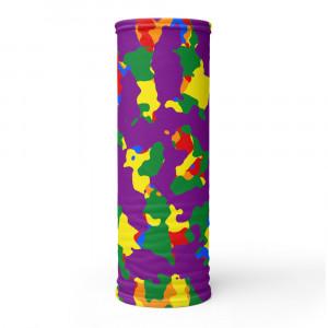 Purple Camo Print Neck Gaiter